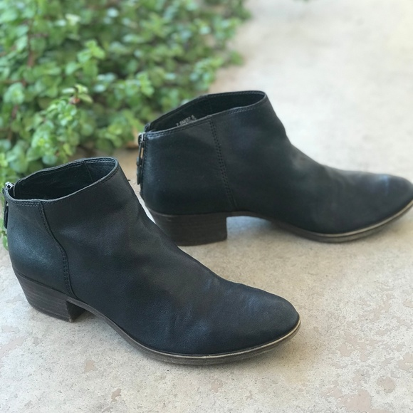 195b12dd897 Lucky Brand Black Leather Bremma Ankle Booties